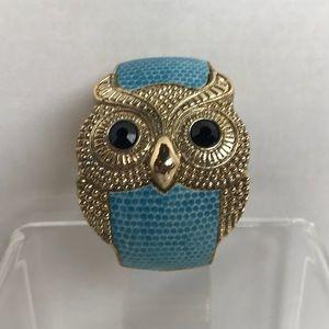 Vintage Owl 💙Gold and Blue Cuff Bracelet 💙